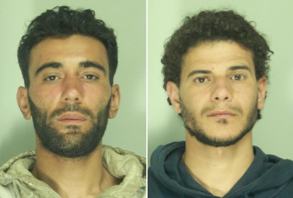 I due presunti trafficantiritenuti autori della strage nel Mediterraneo.Da sx Mohammed Ali Malek e Mahmud Bikhit