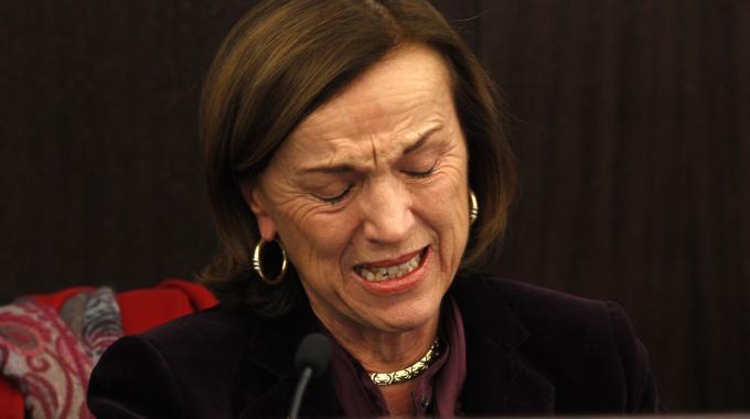 "L'ex ministro Elsa Fornero mentre piangeva quaando varò la ""riforma Fornero"""