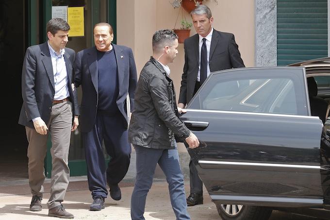 Silvio Berlusconi a Cesano Boscone