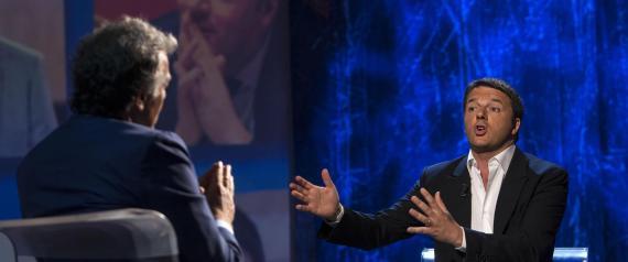Il premier Matteo Renzi all'Arena di Giletti