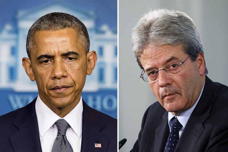 Barack Obama e Paolo Gentiloni
