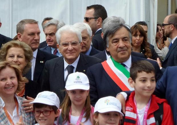 Sergio Mattarella a Palermo in ricordo di Falcone