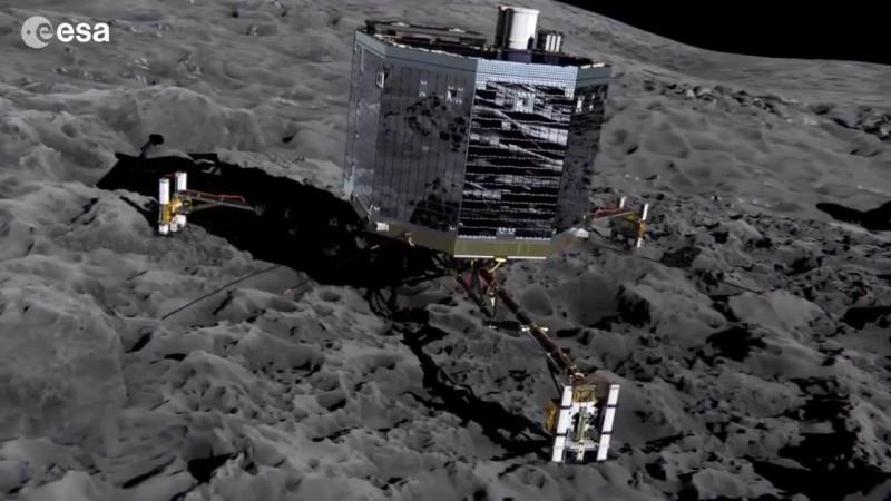il lander Philae aspetta che il sole alimenti i suoi pannelli solari per ripartire