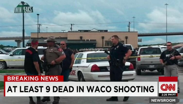 Il luogo della sparatoria tra gang rivali in Texas dove sono morte 9 persone