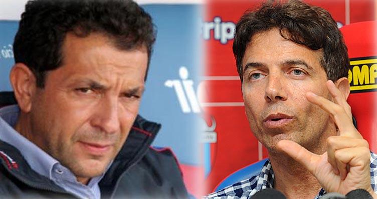 Da sinistra il presidente del Catania calcio Antonino Pulvirenti e il suo vice Pablo Cosentino