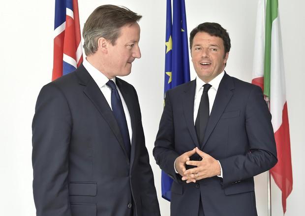 Cameron con Renzi a Milano