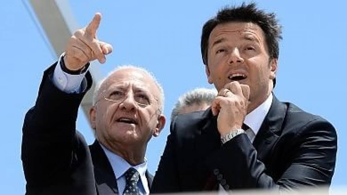 De Luca indica a Renzi la sua vittoria