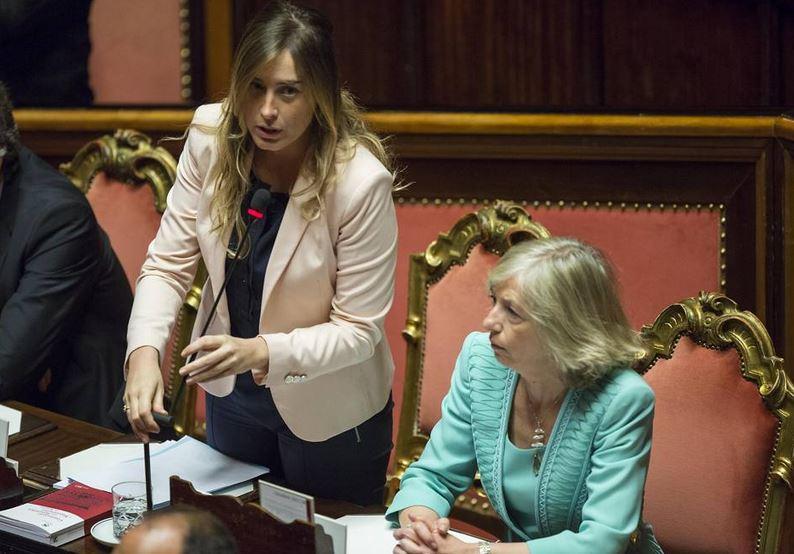I ministri Boschi e Giannini al Senato per la Riforma della Scuola