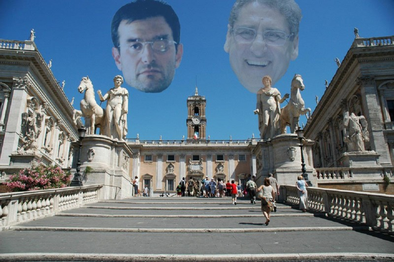 Il Campidoglio sede del consiglio comunale di Roma Capitale