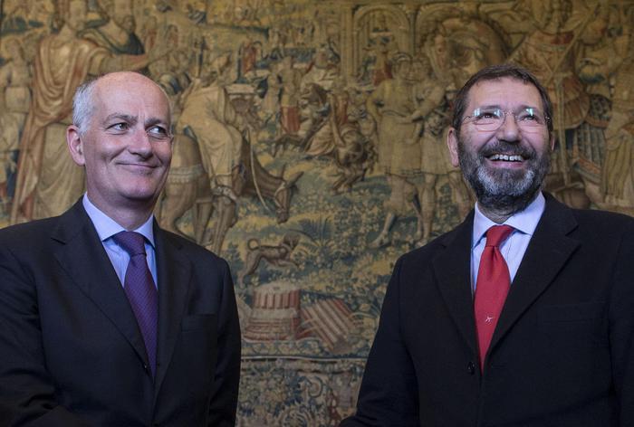 Il prefetto di Roma Franco Gabrielli incontra il sindaco Ignazio Marino (Archivio Ansa) Gabrielli Commissario