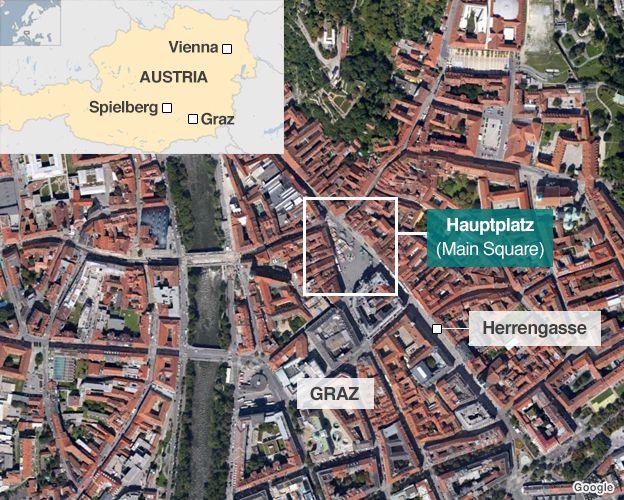 La mappa di Graz