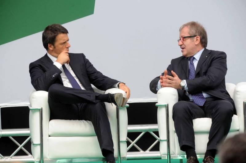 Matteo Renzi e Roberto Maroni