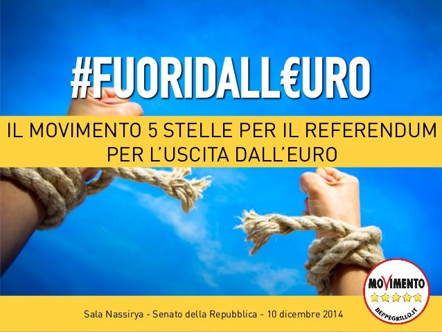 "Referendum Euro, dal M5S 200mila firme: ""Tagliato traguardo"""
