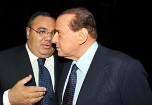 Sergio De Gregorio con Silvio Berlusconi Protagonisti della presunta Compravendita senatori