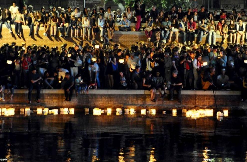 la notte delle Lanterne in Darsena a Milano