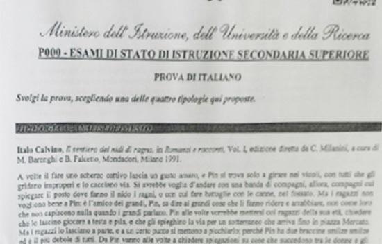 tracce di italiano esame maturità