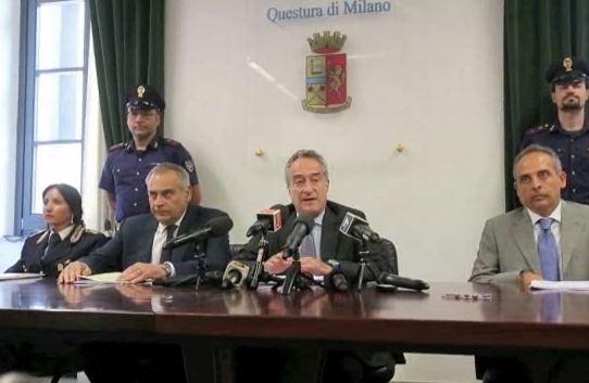 Conferenza stampa del procuratore aggiunto Maurizio Romanelli di Milano dopo il blitz antiterrorismo