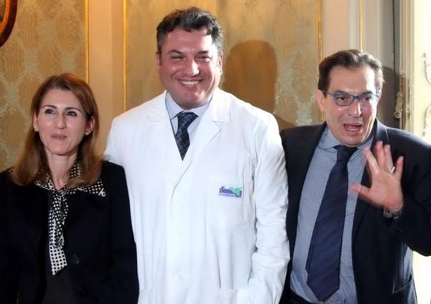 Da destra Lucia Borsellino Matteo Tutino e Rosari Crocetta