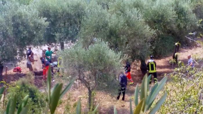 La fabbrica di fuochi pirotecnici saltata in aria a Modugno, Bari, a seguito dell'esplosione  (Ansa/Turi)