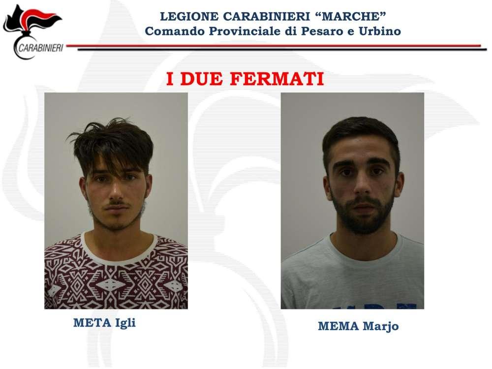I due presunti killer di Ismaele Lulli Igli Meta e Marjo Mema