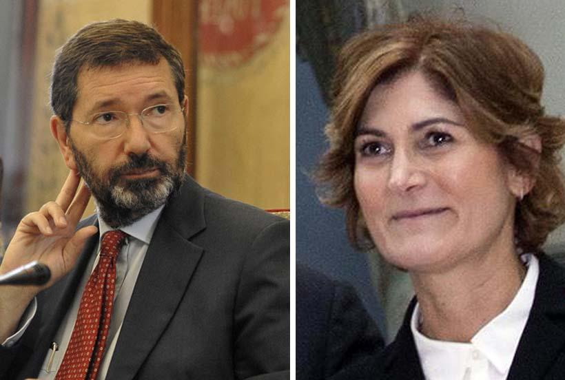 Ignazio Marino con l'ex assessore al Bilancio Silvia Scozzese