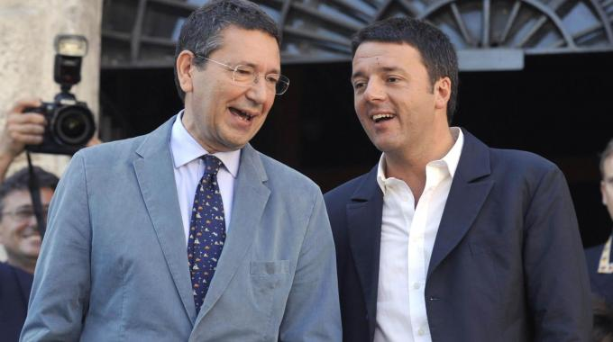 Matteo Renzi con Ignazio Marino