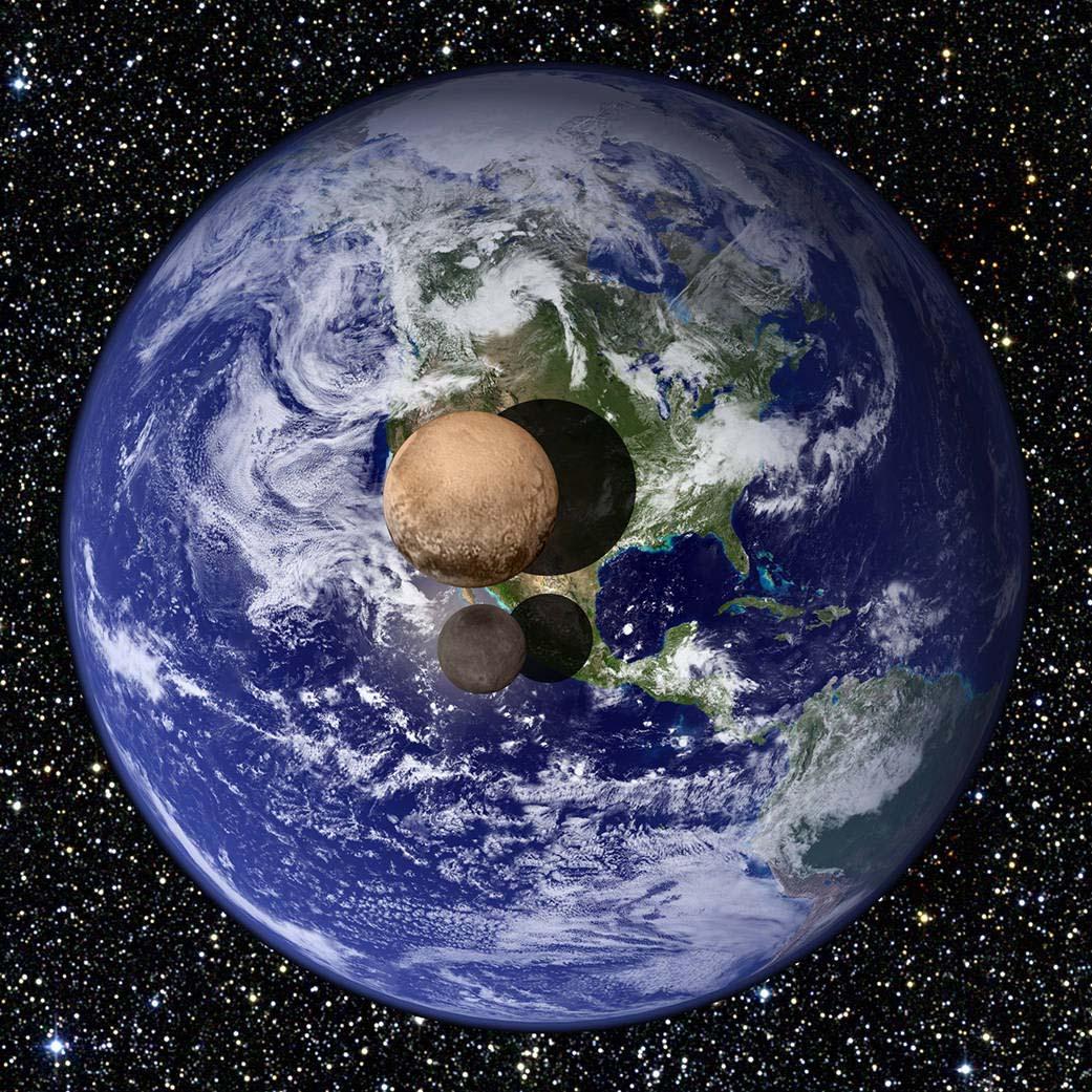 Plutone e Caronte in paragone a Terra e Luna