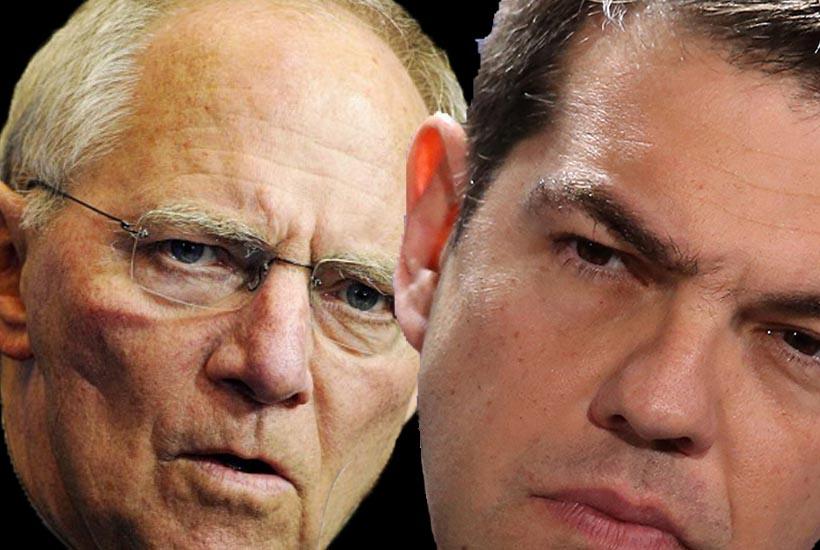 Il ministro delle Finanze tedesco Schaeuble e il premier greco Tsipras - Grecia, Schaeuble (Germania) propone Grexit per 5 anni
