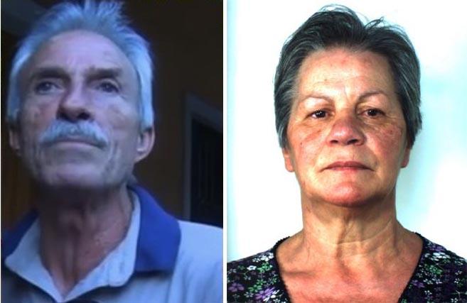 La vittima Alfio Longo con la moglie Enza Ingrassia, presunta assassina