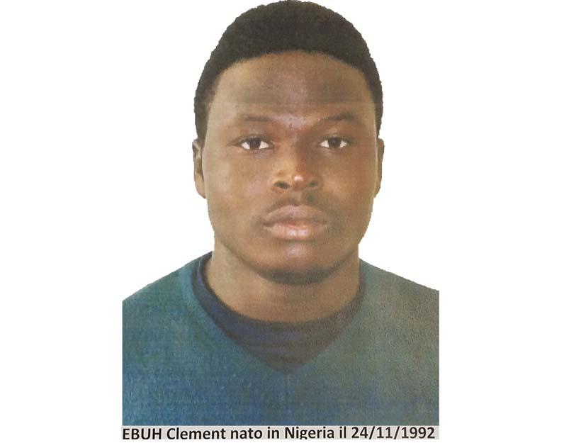 Clement Ebuh presunto killer di Pietro Scida