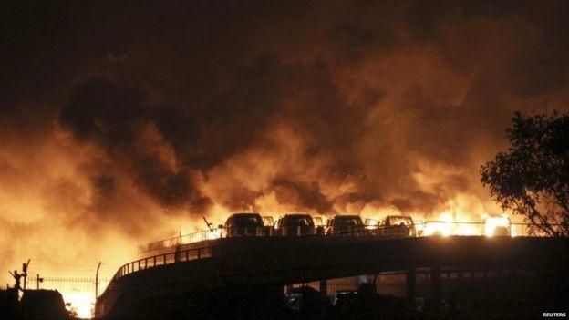 Esplosione a Tianjin in Cina