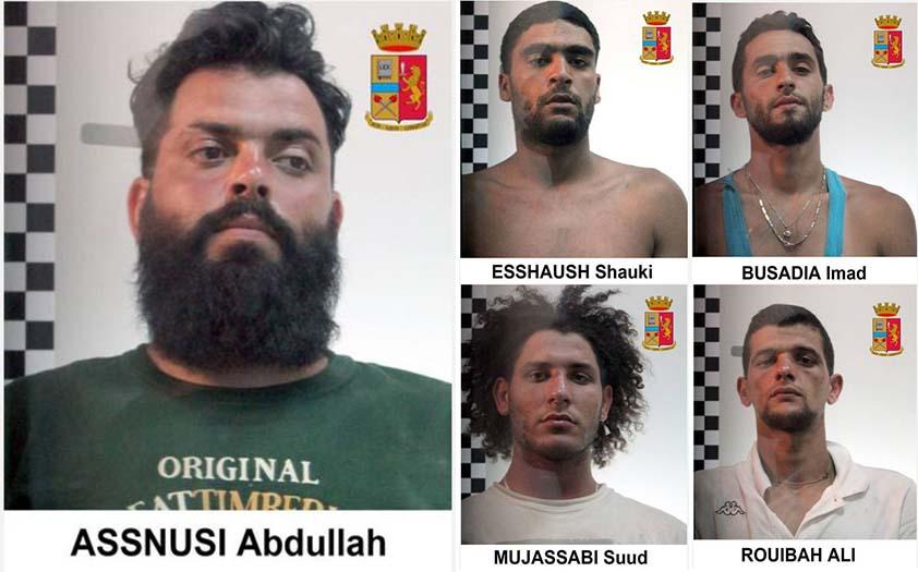 I presunti scafisti arrestati dalla Polizia di Stato a Palermo