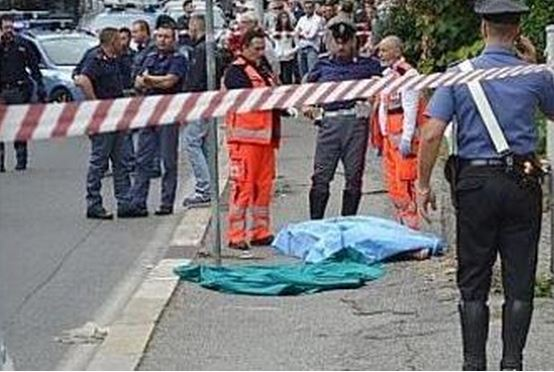 Il luogo ad Albano dove è stata uccisa Carmela Mautone dal marito (foto da ilmessaggero.it)