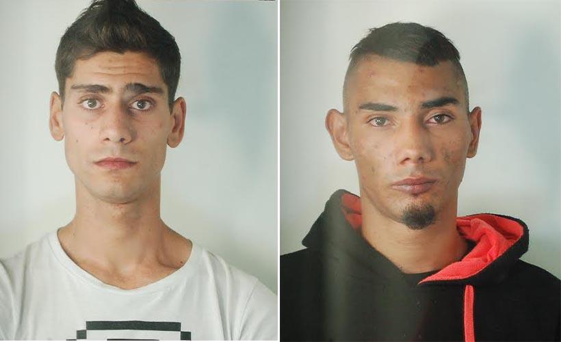 Da sinistra Costantin Fiti e Patrik Ruszo presunti responsabili dell'omicidio Tartari (foto Polizia di Stato - Ferrara)