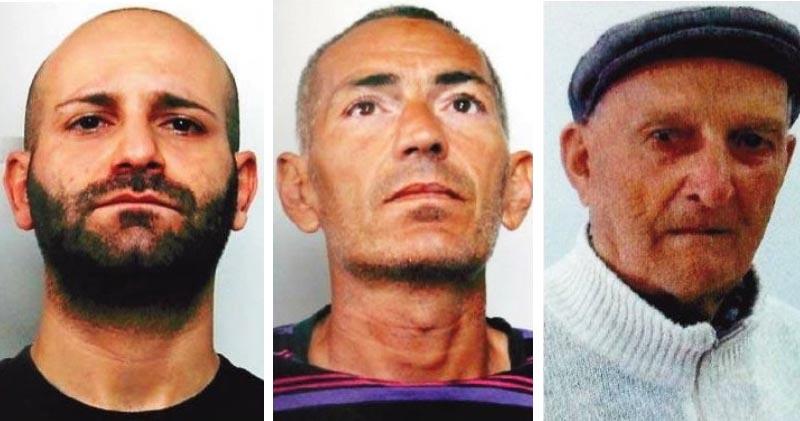 Francesco Garofalo, Angelo Sferrazzo presunti assassini di Sebastiano Liottasio a destra ucciso a Priolo Gargallo