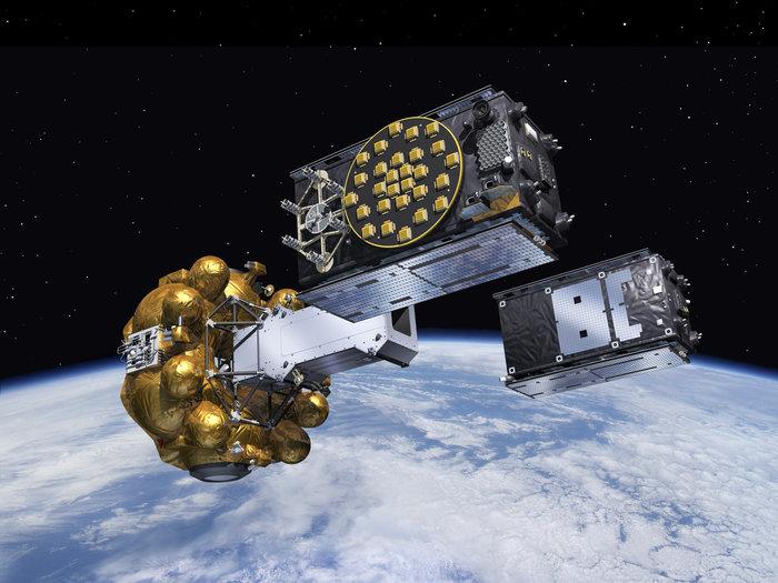 Il momento della separazione dei due satelliti Galileo (Esa)