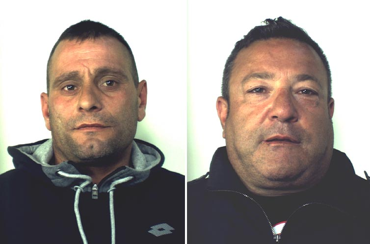 I presunti complici Emiliano Esposito e Mario Ischero coinvolti nell'omicidio di Anatolij Korol