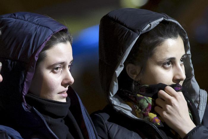 Greta Ramelli e Vanessa Marzullo le due ragazze rapite e liberate grazie al pagamento di un riscatto di 11 milioni di euro, dicono fonti giudiziarie di Aleppo, Siria - vicenda Greta e Vanessa