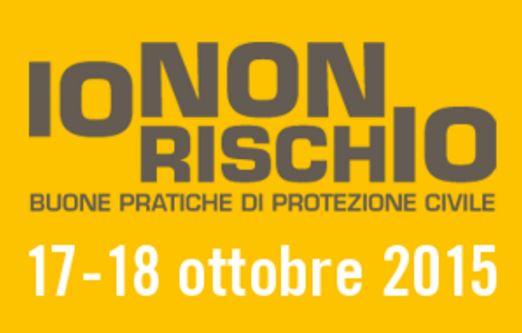 """Il logo della campagna della Protezione civile """"Io non rischio"""""""