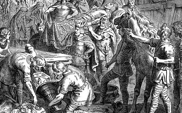 La leggenda di re Alarico - il re mentre viene sepolto