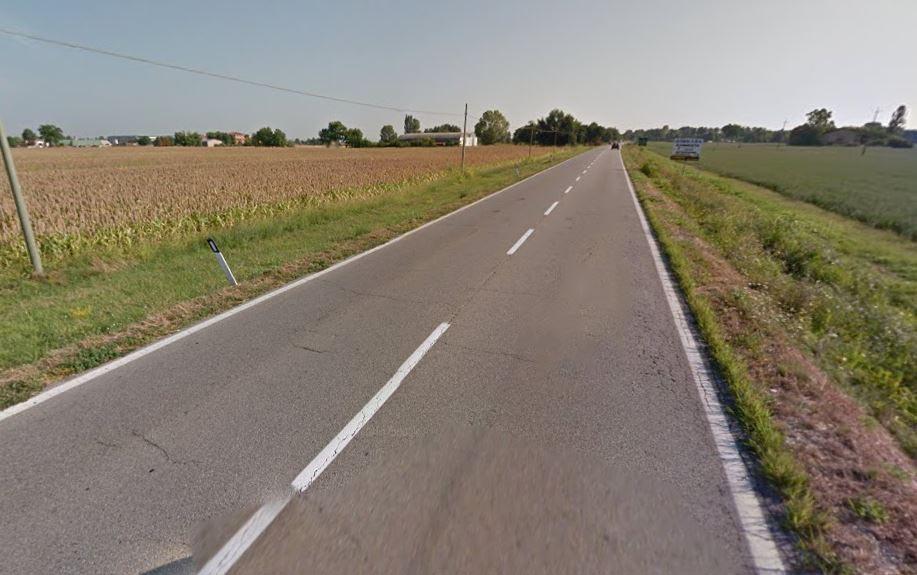 La statale Porrettana all'altezza di Lovoleto di Granarolo, Bologna, su cui è avvenuto l'incidente mortale