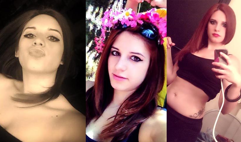 Combo di Giordana Di Stefano la 21enne uccisa a Nicolosi, Catania. (foto profilo Facebook della povera vittima)