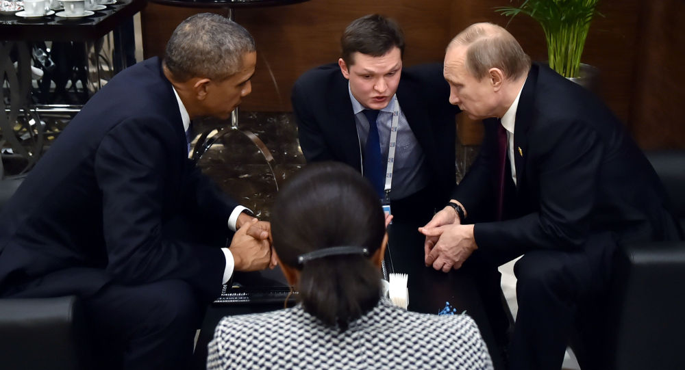 Barack Obama nell'incontro con Vladimir Putin al G20 in Turchia