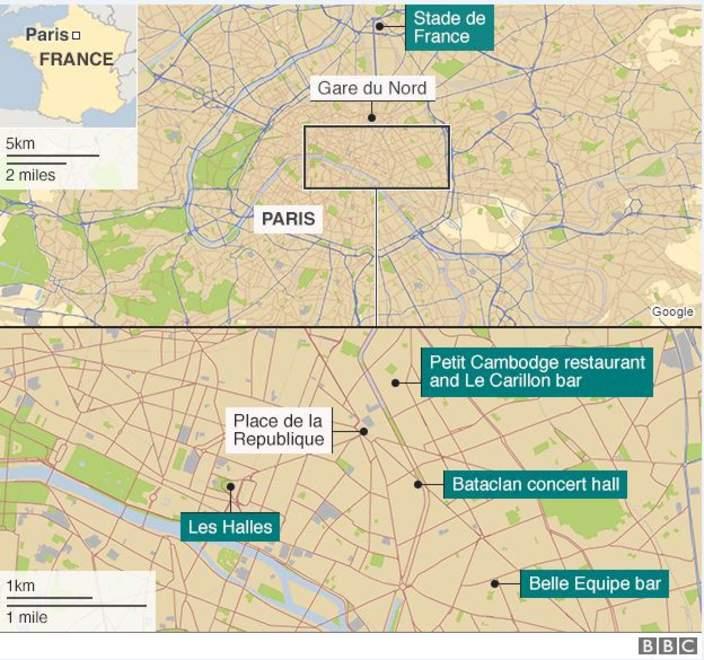 La-mappa-dei-5-attacchi-terroristici-a-Parigi-Bbc