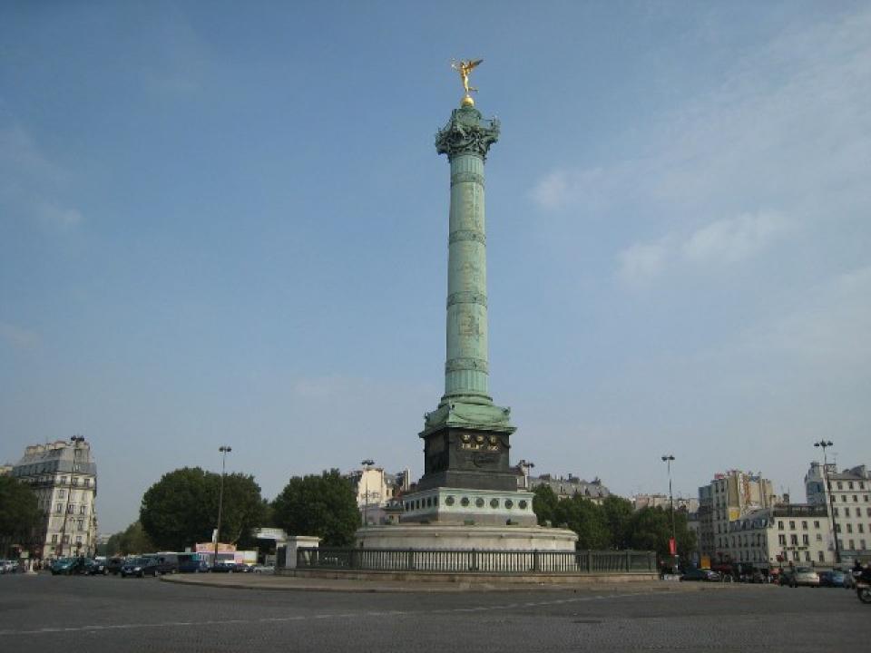 Piazza della Bastiglia a Parigi dove sarebbe avvenuta esplosione