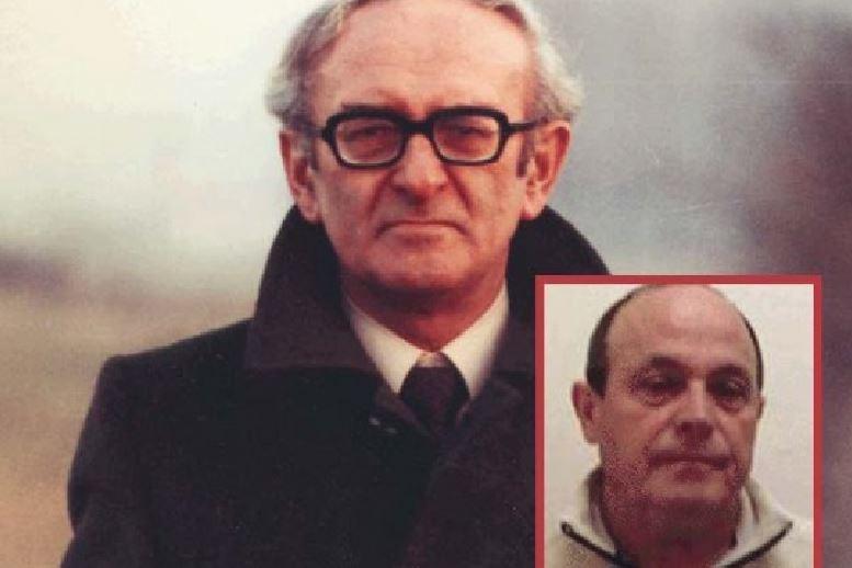 il magistrato ucciso Bruno Caccia. Nel riquadro il presunto autore Rocco Schirripa
