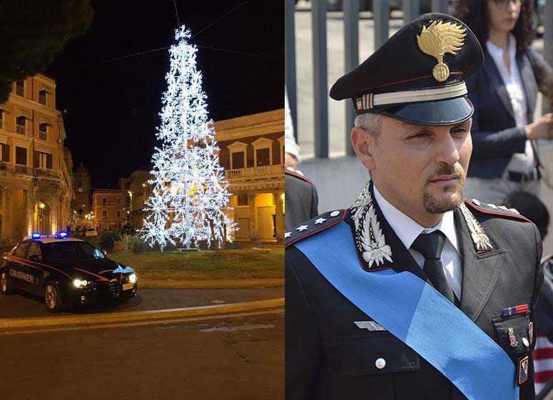 Presidio dei Carabinieri a Crotone. A destra il comandante della compagnia Claudio Martino