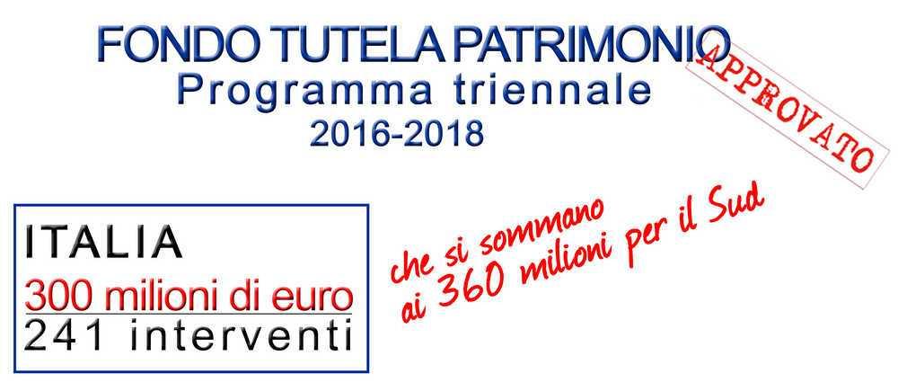 Beni culturali, oltre tre milioni e mezzo alla Calabria