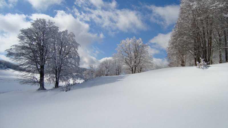 Maltempo in Calabria, freddo, neve e gelo. In Sila -8 gradi