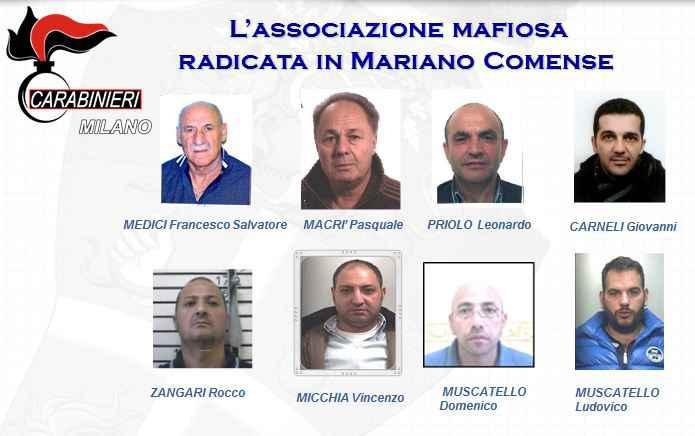 """'Ndrangheta, scacco alla cupola di Mariano Comense. 28 arresti Dialoghi tra membri della """"locale"""